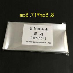 100x clear bag coin protective pocket plastic