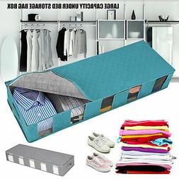 2/1pcs Under Bed Storage Bag Containers Clothes Box Underbed