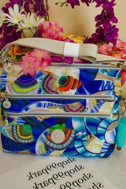 KIPLING ALVAR CROSSBODY BAG OCEAN DREAM SEASHELL HAWAII orga