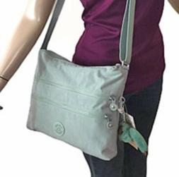 Kipling Alvar Fern Green Travel Shopper Multi Compartments C