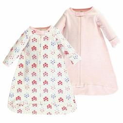 Touched by Nature Baby Organic Long Sleeve Sleeping Bag 2pk,