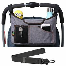 Baby Stroller Organizer Pushchair Safe Console Tray Cup Hold
