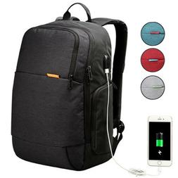 Backpack With USB Charging Port Water Resistant 15.6 Inch La