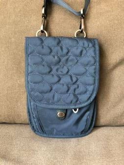 Mosey by Baggallini Women's Handbag Purse Quilted Blue Cross