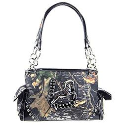 camouflage fashion gray black horse rider western shoulder h
