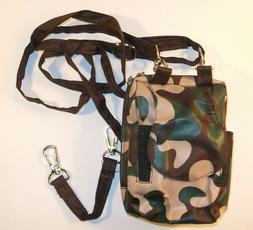 CAMOUFLAGE PRINT COMBO PURSE ORGANIZER SMALL CELL PHONE HOLD