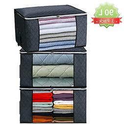 clothes and blanket storage bag for closet