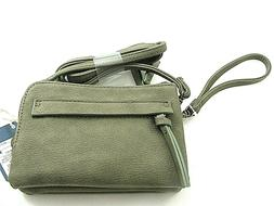 Universal Thread Crossbody or Wristlet Purse Olive Zip Closu