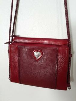 french quarter red pebbled leather crossbody purse
