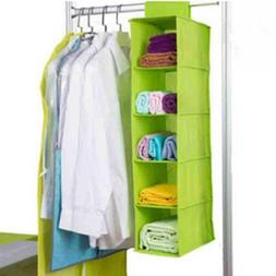 Hanging Clothes Storage Wardrobe Organizer Closet Box Shelf