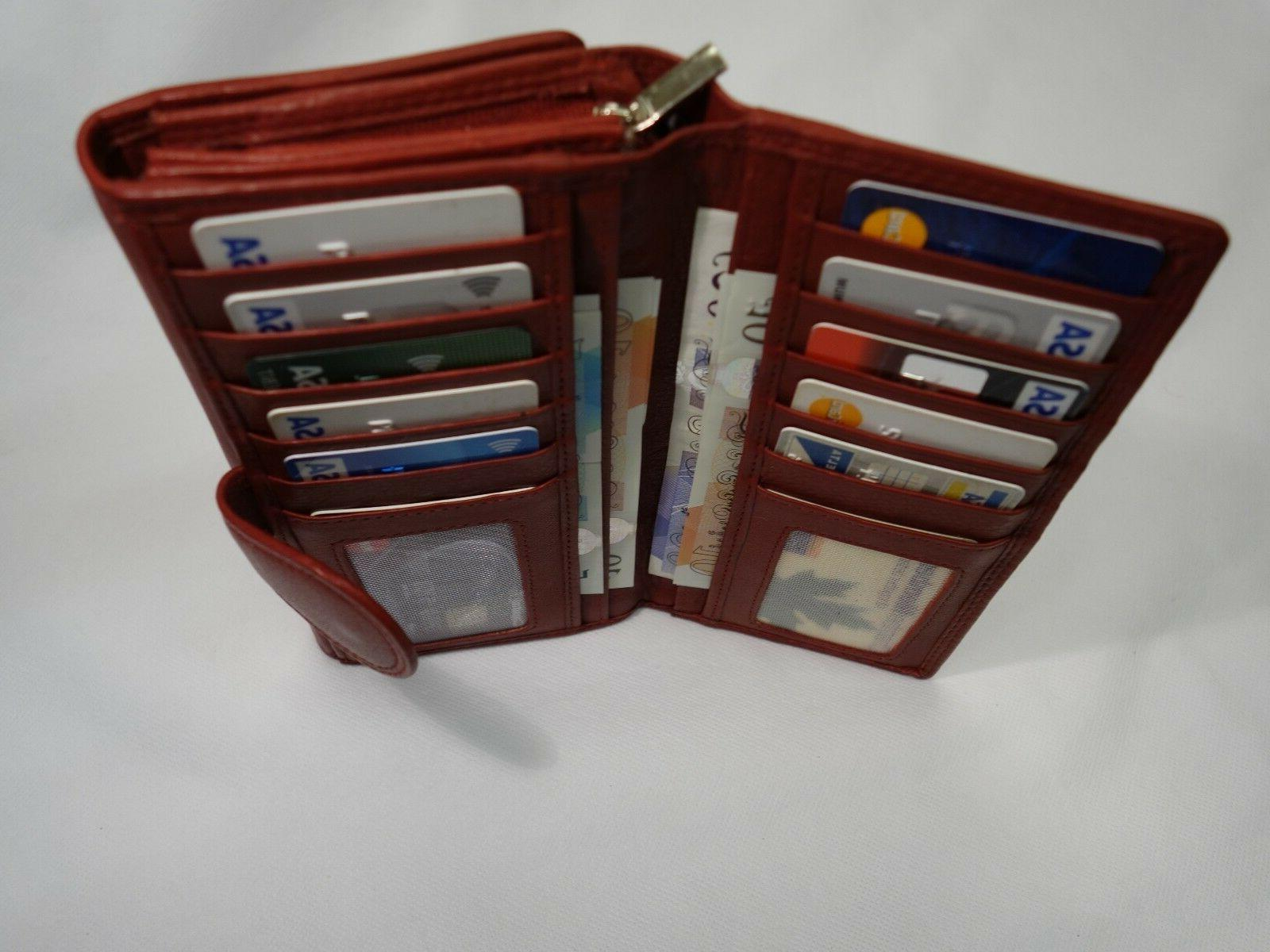 extra large ladies leather purse wallet organizer