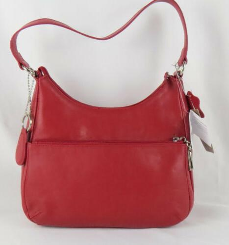 Women's Handbags Giani Nappa Leather Hobo Red