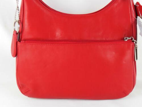 Women's Handbags Nappa Leather Hobo Red