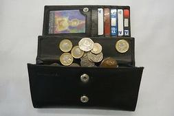 Ladies Leather Purse Wallet Organizer Large With Features To