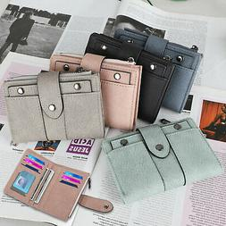 Leather Clutch Wallet for Women Ladies Credit Card Holder Or