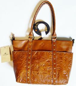 NEW NWT PATRICIA NASH Talloria Florence tooled brown leather