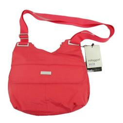 New Baggallini Travel Bagg Crossbody Purse Red Water Resista