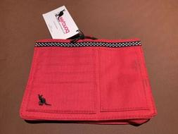 NWT Pouchee Purse Ultimate Organizer Red With Black And Whit