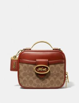 🔥Coach Riley Lunchbox Bag In Signature Canvas #703 Brass/