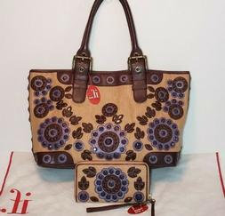 ISABELLA FIORE SET IN STONE TORI EMBELLISHED APPLIQUE WALLET