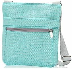 Thirty One bag Organizing Shoulder Bag Turquoise Cross Weave