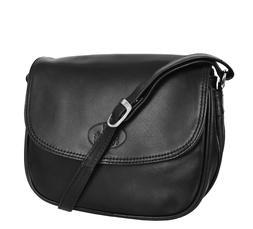 Womens Real Leather Shoulder Handbag Flap Over Cross Body Or